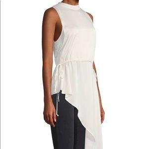 BCBG MAZAZRIA New White Blouse Tunic